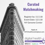 Another Round of NYC Curated Matchmaking through DHMP!