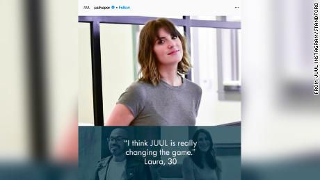 An image from Juul's Instagram, archived by Stanford Research into the Impact of Tobacco Advertising.