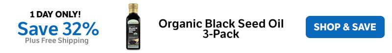 Save 32% on Organic Black Seed Oil 3-Pack