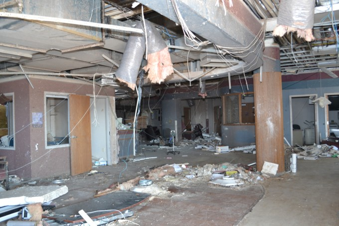 Damage sustained at St. John's Regional Medical Center after the May 22 EF-5 tornado that struck Joplin, Mo.