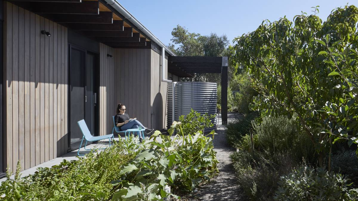 Three distinct north facing areas allow the owners to create a different garden in each.
