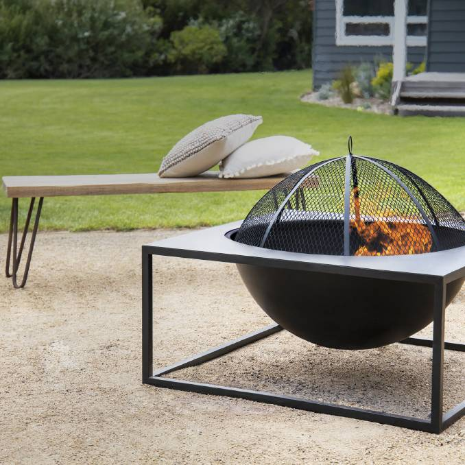 ALL FIRED UP: The Hive fire pit is ready for some smoking hot fire pit parties.