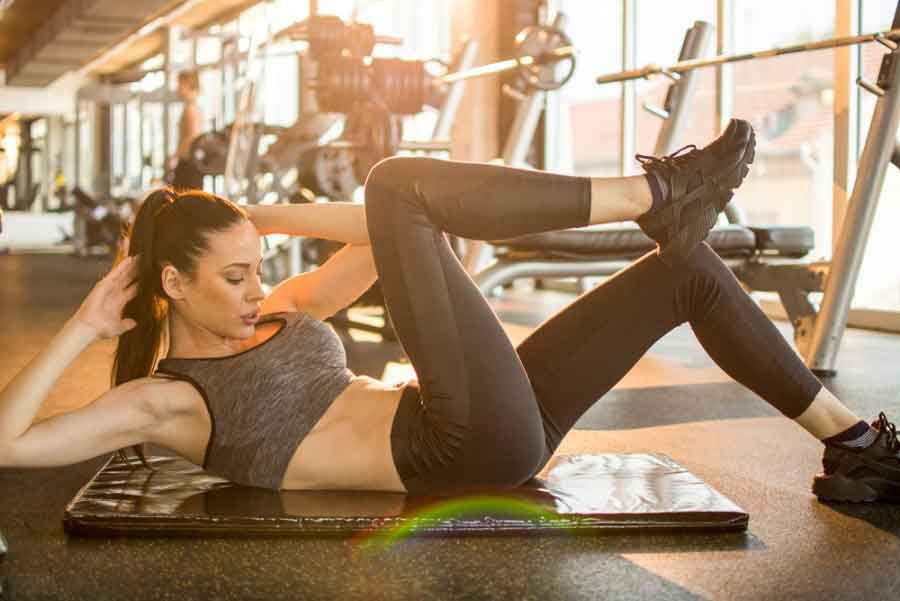 side crunches workout