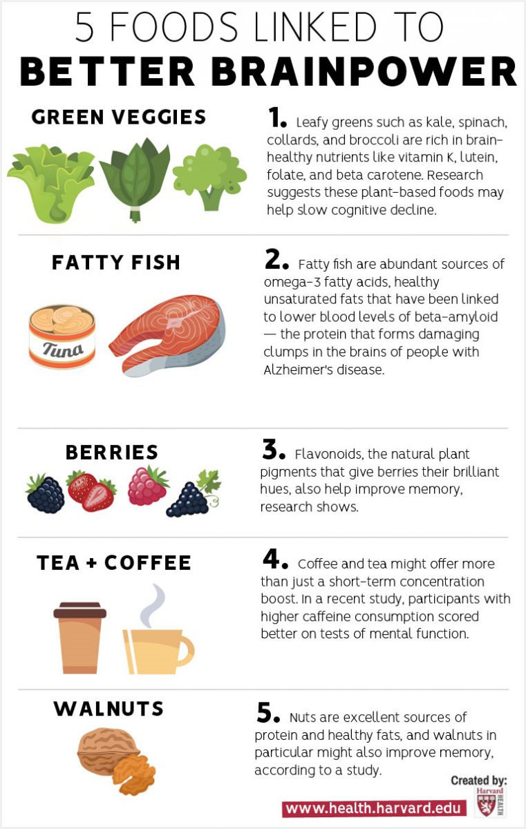 Brain Foods Infographic